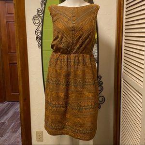 New eShatki Sleevless Gold & Gray Dress 20W